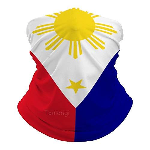 Face Bandana Dust Wind Protection Philippines Flag...