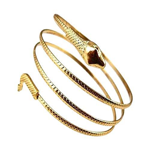 Carry stone Premium Qualität Punk Fashion Coiled Snake Spiral Oberarm Manschette Armbinde Armreif Armreif