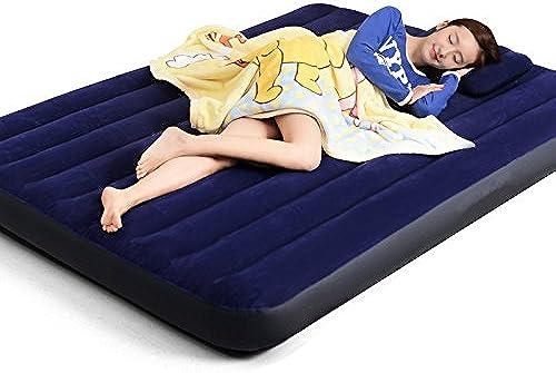 NVZJNDS Matelas d'air à la Maison Double Matelas d'air à Trois Couches extérieures rehaussant et épaississant Le lit Pliant Gonflable portatif