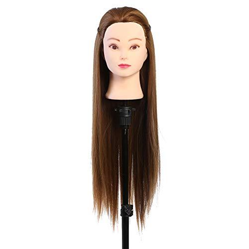Modèle de tête pour la formation de coiffeur, tête de mannequin de maquillage avec des cheveux brun doré blond