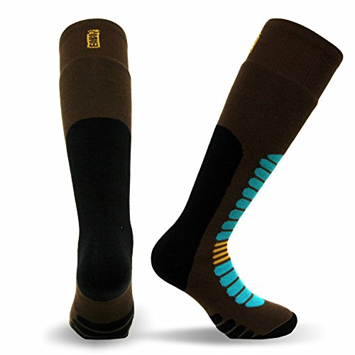 Eurosocks 1212 Board Zone Sock, Brown, Medium