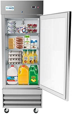 KoolMore 29 Stainless Steel Solid Door Commercial Reach in Refrigerator Cooler 19 cu ft RIR product image