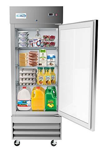 "KoolMore 29"" Stainless Steel Solid Door Commercial Reach-in Refrigerator Cooler - 19 cu. ft (RIR-1D-SS-19C)"