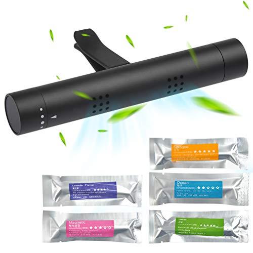BUYGOO Ambientador de Aire para Coche 5 Palos de Aroma sólido con purificador de Aire, Difusor de Coche Desodorante del Vehículo de Olor Diferente para automóvil, vehículo para Eliminar olores