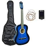 3rd Avenue Paquete de guitarra, Azul (Blueburst), Tamaño 3/4, Paquete