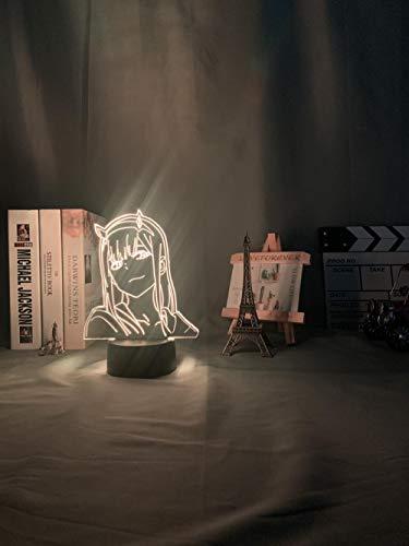 Anime 3d Lichter Null zwei Figur Nachtlicht Kinder Kinder Mädchen Schlafzimmer Dekoration Lichter Comics Geschenke Nachtlicht Lichter lieber Franxx advent calendar 2021 DUYAO00