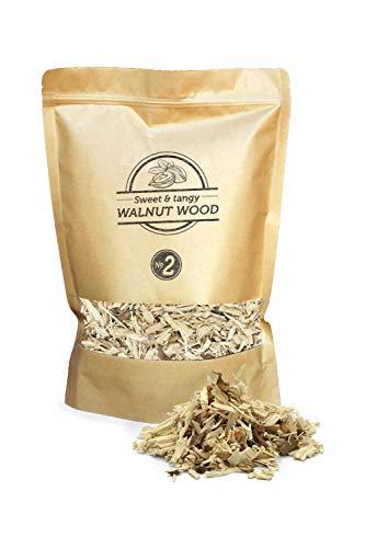 Smokey Olive Wood 1.7L cippati da affumicatura Legno di Noce, Nº2: 5mm-1cm