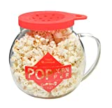 Home-X Microwave Popcorn Maker 1.5 Quart Microwavable Popper | Temperature Safe Glass Snack