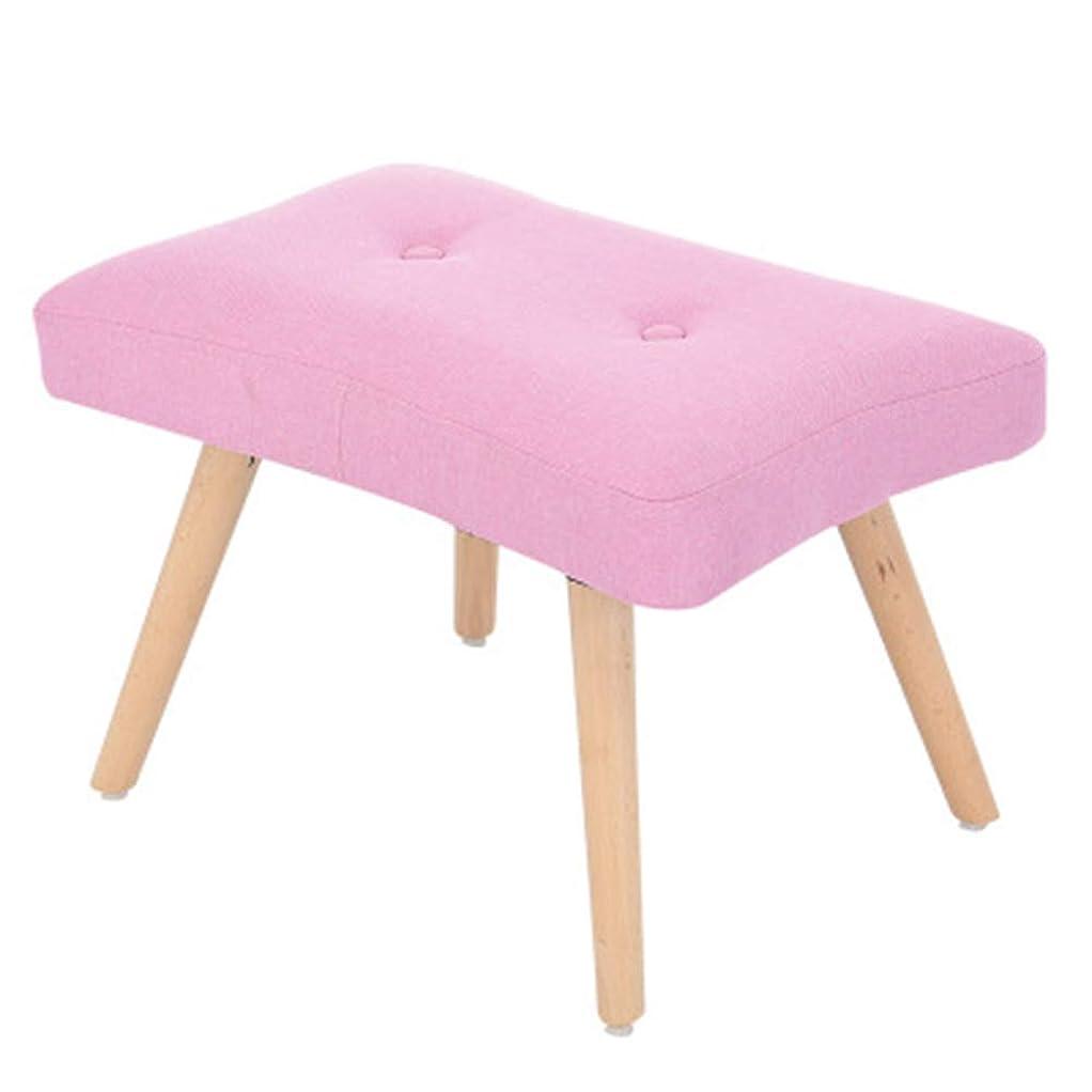 サンドイッチセマフォ彫るCAIJUN オットマン 足置き フットスツール 木製フレーム 厚いスポンジ 多機能 滑り止め ポータブル 屋内 贈り物、 8色、 2のスタイル (色 : ピンク, サイズ さいず : Rectangle)