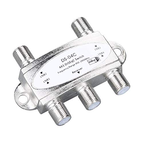 BianchiPatricia 4 x 1 DiSEqc Wideband Switch Connect 4 Dishes 4 LNB For Satellite Receiver