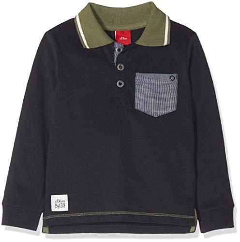 s.Oliver s.Oliver Baby-Jungen 65.811.35.5930 Poloshirt, Blau (Dark Blue 5958), 62