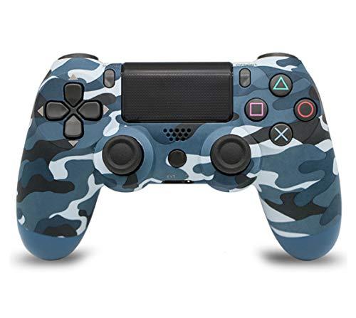 N/L PS4 Wireless Bluetooth Controller Bluetooth Remote Gaming Gamepad Joystick Wireless Game Controller 4.0 mit Lichtern (Blaue Tarnung)