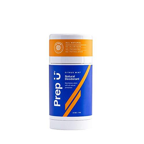 Prep U | Aluminum-Free Natural Deodorant for Boys, Teens, Men | All-Natural Dermatologist-Tested Odor Protection | Clean, Safe, Effective Ingredients for Active Guys | Citrus Mint - 2.5 fl Oz