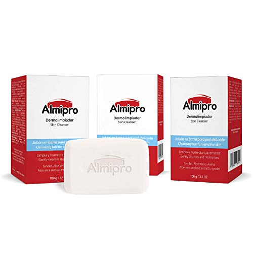 Almipro Face & Body Cleanser Bar with syndet, Oatmeal and Aloe Vera for Sensitive Skin | Wash Soap Bars | 3.5 oz, Pack…