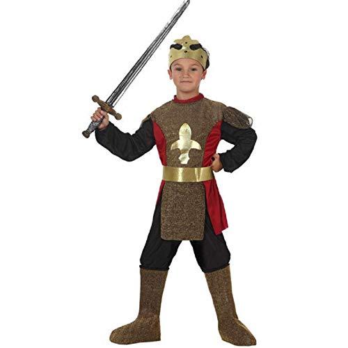 ATOSA disfraz rey medieval niño infantil dorado 5 a 6 años