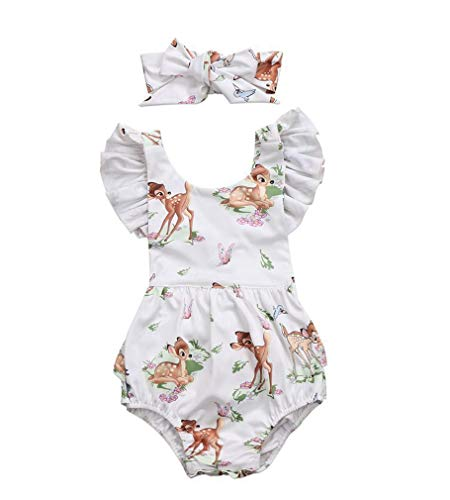 SAMGU Ensembles De Vêtements pour Filles, Bébé Fille Bowknot Vêtements Combi-Short Combinaison Body Ensemble Été Playsuit