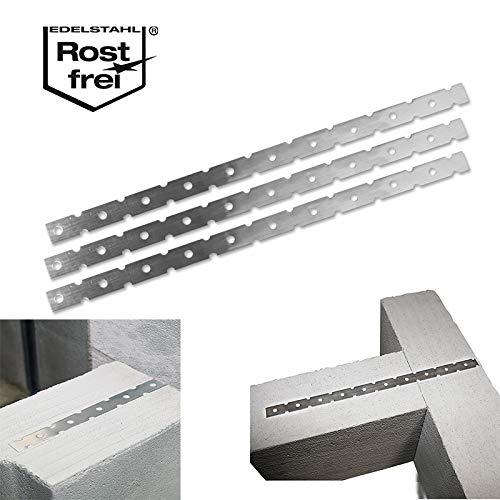 50 Stück Mauerverbinder aus Edelstahl Flachanker
