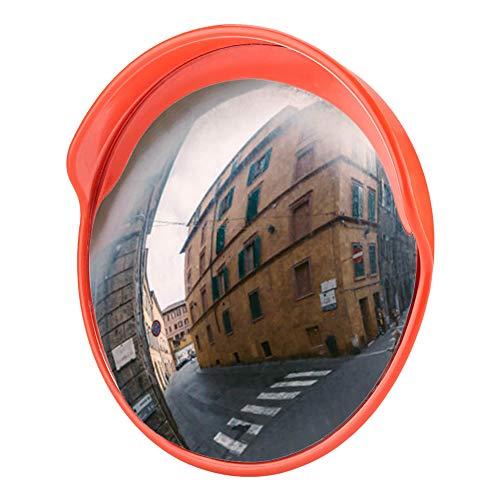 45cm Convex Traffic Safety Mirror, Driveway 130°Wide Angle Convex Traffic Mirror Driveway Corner...