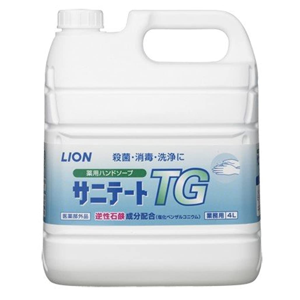 放射能札入れ嫌いライオン 薬用ハンドソープ サニテートTG 希釈タイプ(逆性石鹸)4L×2本入