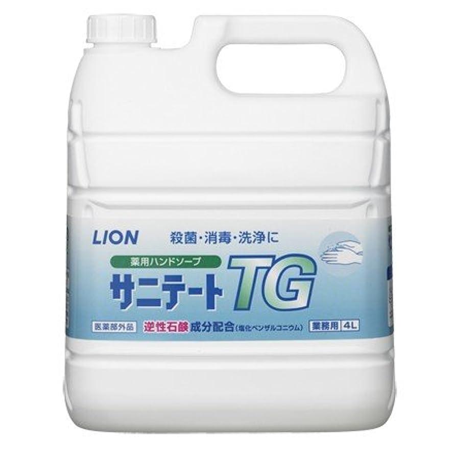 維持写真若者ライオン 薬用ハンドソープ サニテートTG 希釈タイプ(逆性石鹸)4L×2本入