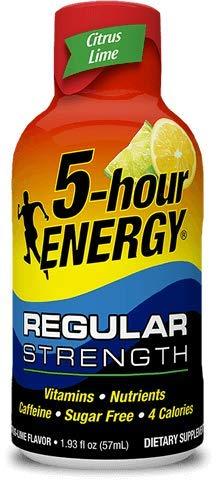 5-hour Energy Shot, Regular Strength Citrus Lime Flavor, 1.93 ounce, 12 count