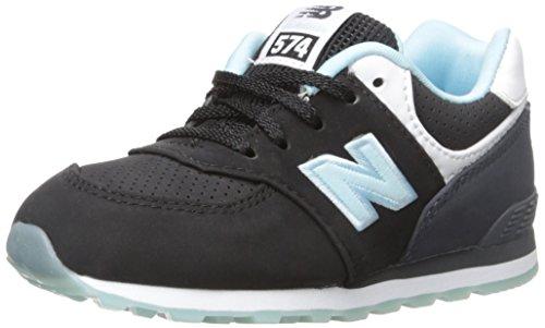 New Balance New Balance KL574 State Fair Running Shoe (Infant/Toddler), Black/Blue, 17 M EU