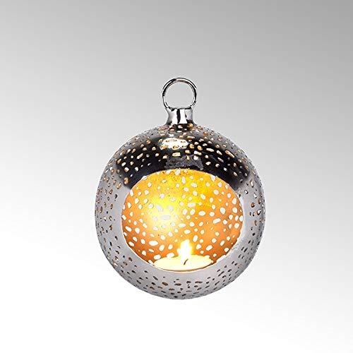 Lambert Pollux Teelichthalter Rd Kl Vern/Gold H12 D11Cm