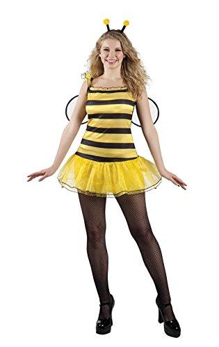 Luxuspiraten Damen Kostüm als Biene- Minikleid, S/M, Gelb