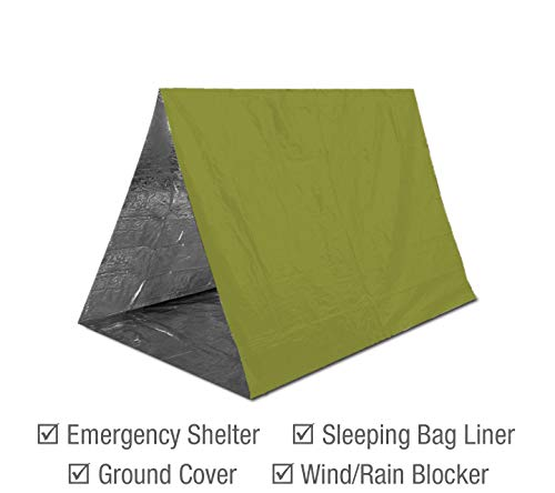 Product Image 3: Emergency Mylar Thermal Blankets (4-Pack) + Bonus Signature Gold Foil Space Blanket: Designed for NASA, Outdoors, Hiking, Survival, Marathons or First Aid