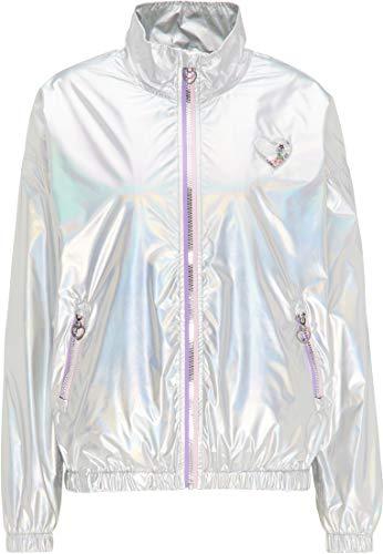myMo Holographic Blouson Damen 12305780 Silber holografisch, XXL