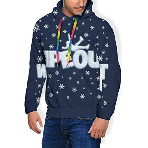 Wipeout Christmas Ice - Sudadera con capucha y bolsillos de terciopelo para hombre