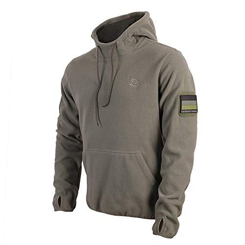 AR TACTICAL Taktischer BW Fleece Pullover mit Hoheitsabzeichen BW Hoodie mit Klett + Rubber Patch (Oliv, XL)