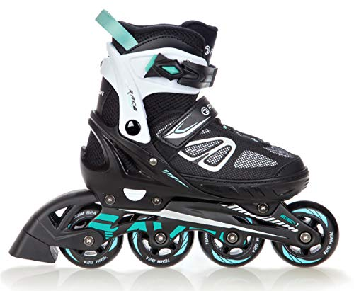 RAVEN Inlineskates Inliner Advance verstellbar Black/Mint 38-42 (25-27,5cm)