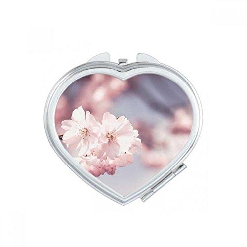 DIYthinker Roses Big-Sized Fleurs Rouges Coeur Maquillage Compact Miroir de Poche Miroirs Portable Mignon Petit Cadeau à la Main Multicolor