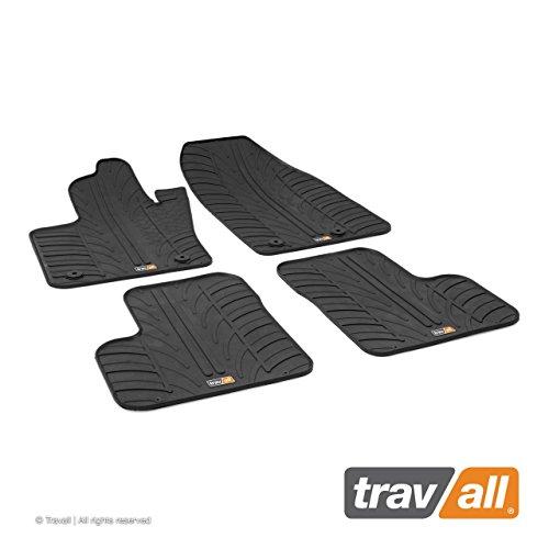 Travall Mats Tapis de Voiture Compatible avec Fiat 500X et Jeep Renegade (2014 et Ulterieur) TRM1242 - Tapis de Sol en Caoutchouc sur Measure