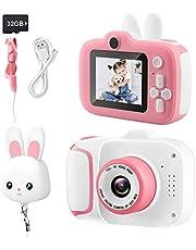 Appareil Photo Enfant, Mini Appareil Photo Numérique pour Enfants de 2,0'', Vidéo 1080p HD, avec Carte SD 32G,Couvercle de Protection de l'objectif, pour Les Enfants de 3 à 12 Ans