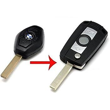 BMW MINI 2 bottoni telecomando case Chiave con Lama taglio per il tuo LOCK! 2003-2005
