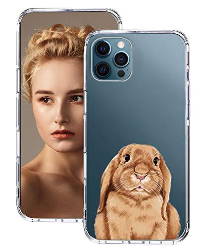 Funda para iPhone 12 Pro Max con patrón de animales, transparente, suave, TPU, silicona, resistente a los golpes, suave, ultra fina, original para iPhone 12 Pro Max (4)