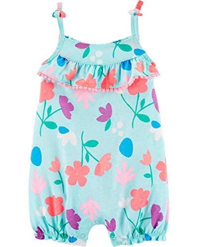 Macaquinho Carter's estampado para bebês meninas, Blue/Floral, 12 Months