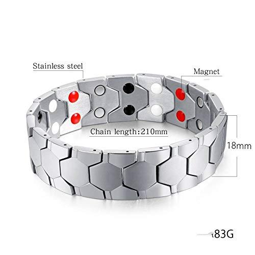 SHOUAQI lederarmband f/ür m/änner Herren Armband Trend Magnet Armband Trendy Herren Titan Stahl Armband Uhrenkette Schmuck Einstellbar