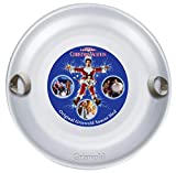 Slippery SR755CV Racer Original Clark Griswold National Lampoons Christmas Vacation Saucer Sled Premium Grade Aluminum Alloy with Soft Grip Handles and Movie Graphic, Silver