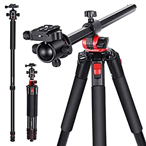 Neewer 72.4-Inch Aluminum Camera Tripod Monopod with 360-Degree Rotatable Center Column and Ball Head, Quick Shoe Plate, Bag for DSLR Camera, Video Camcorder, Travel, and Work, Load Up to 33 Pounds