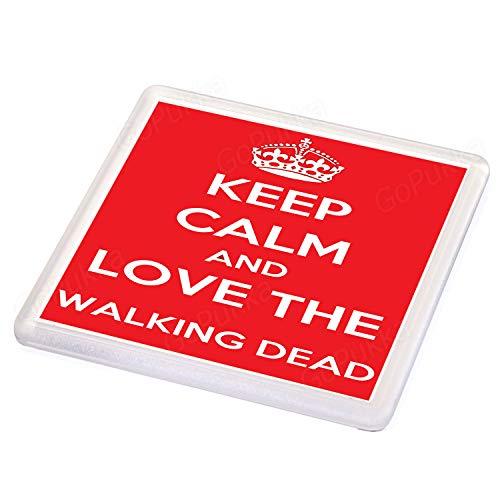 Keep Calm and Love The Walking Dead - Posavasos, color rojo