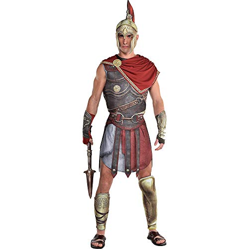 Party City Alexios Halloween Costume for Men, Assassin's Creed, Standard, with Accessories