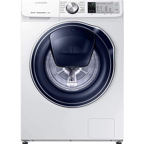 Samsung WW7XM642OPA Waschmaschine, freistehend, Toplader, Weiß, 7 kg, 1400 U/min, A++++-30% – Waschmaschinen (freistehend, Toplader, weiß, Knöpfe, Drehknöpfe, Touchscreen, links, Weiß