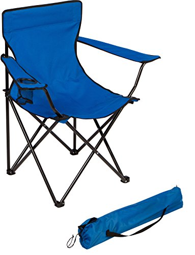 Trademark Innovations Portable Folding Camp Chair (Blue)