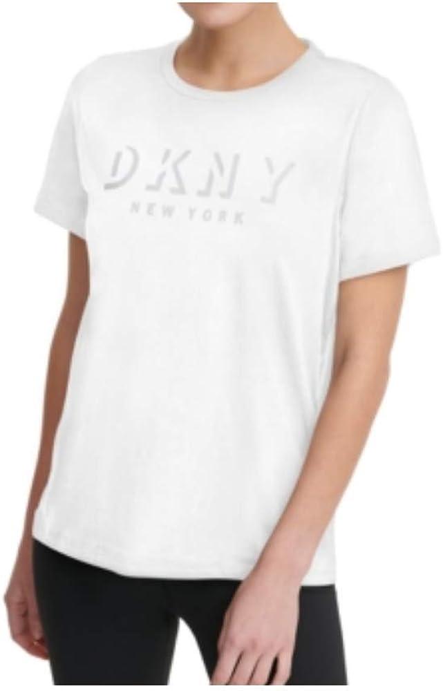 D K N Y Sport Shadow-Logo T-Shirt White M