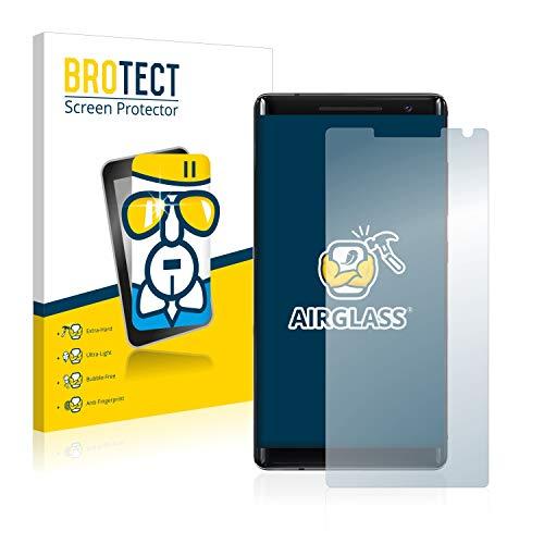 BROTECT Panzerglas Schutzfolie kompatibel mit Nokia 8 Sirocco - AirGlass, extrem Kratzfest, Anti-Fingerprint, Ultra-transparent