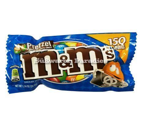 M&M's Pretzel Chocolate Candy Bag 32.3g