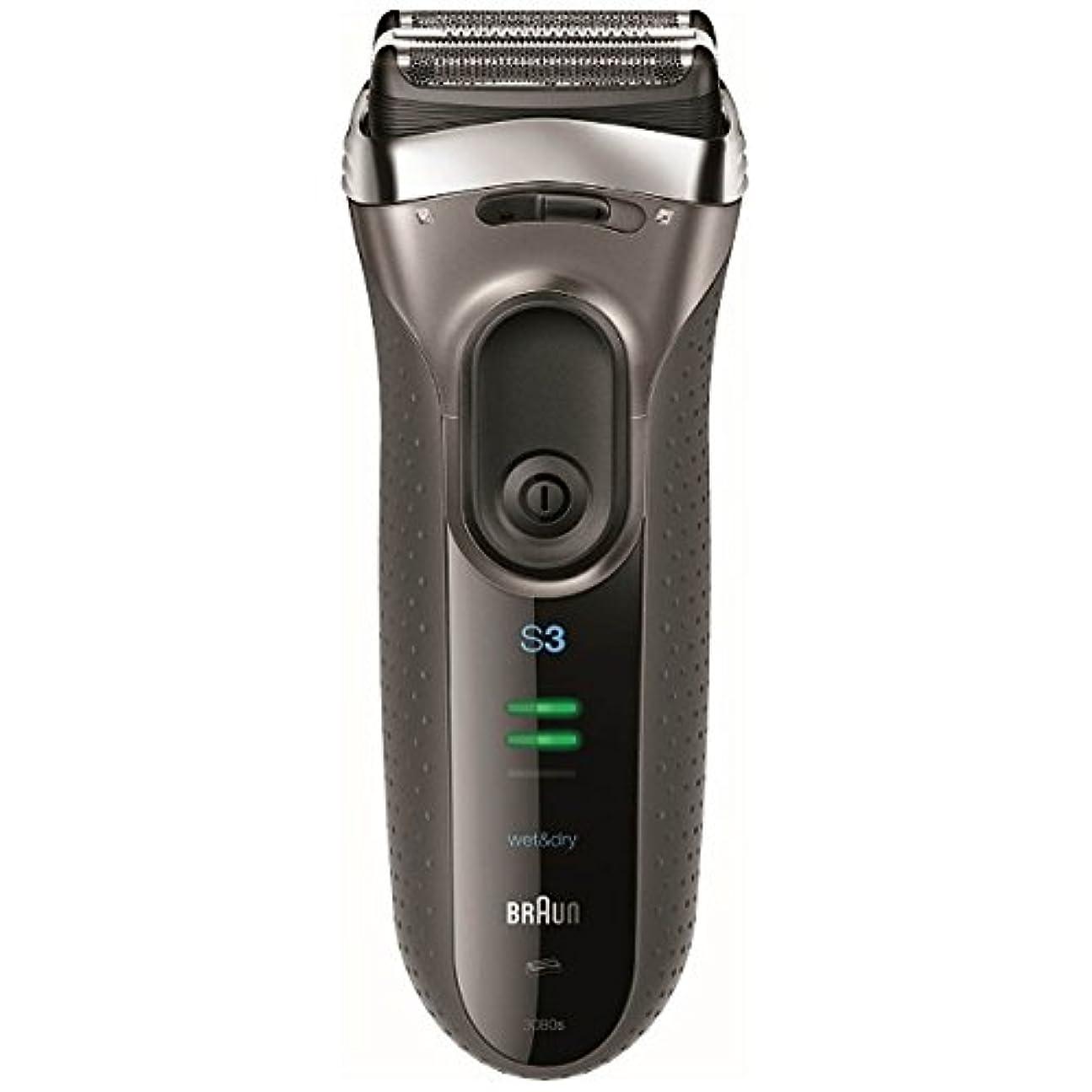 慢な出くわす上院ブラウン メンズシェーバー シリーズ3 3080s-S-P 3枚刃 お風呂剃り可 シルバー